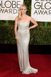 Reese Witherspoon in a silver strapless Calvin Klein column gown.