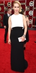 Sarah Paulson in a black & white Armani Prive dress, David Webb jewels, Brian Atwood shoes, & an Edie Parker clutch.