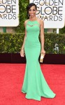 Shaun Robinson in a mint green mermaid gown.
