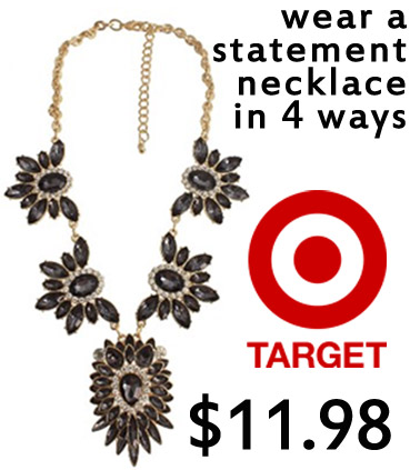 Target - statement necklace $11.98.