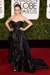 Taryn Manning in a black strapless structured Oscar de la Renta gown.