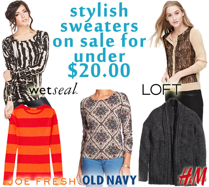 The Stylish Five - Sweaters Under $20