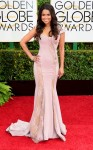 Tracey Edmonds in a lavender lace cut-out gown.