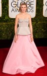 Zosia Mamet in a pink & white corset gown by Andrew Gn.