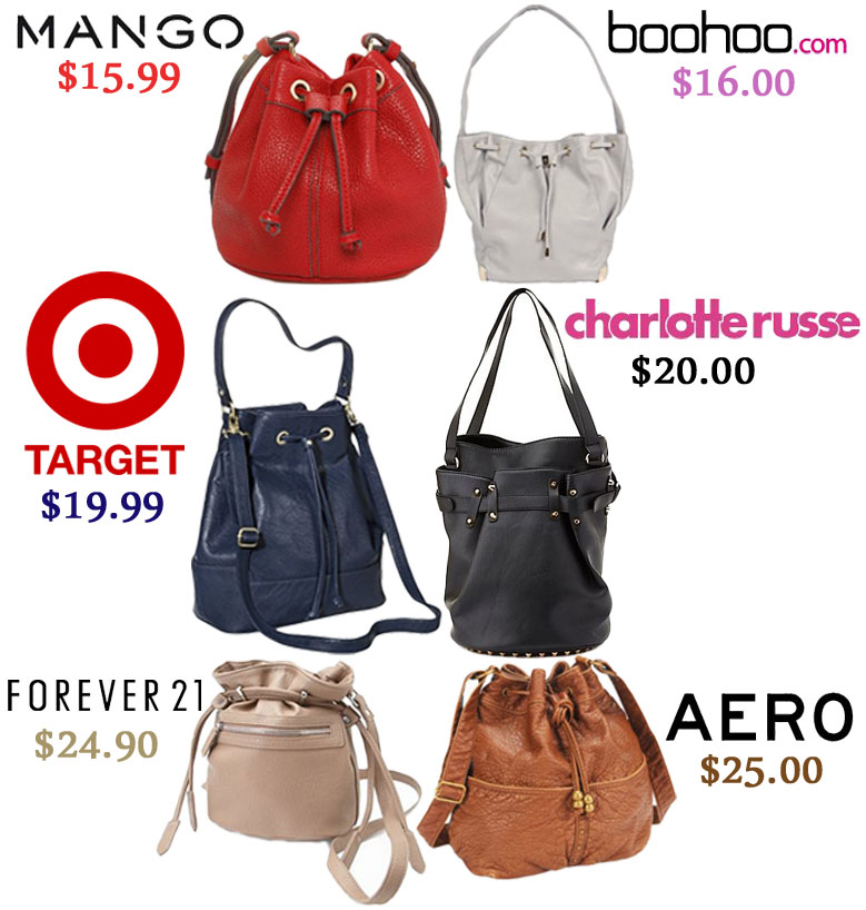 f61cd77660a Affordable bucket bags.