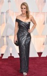 Cheryl Hines in a pewter sparkling single-shoulder column gown.