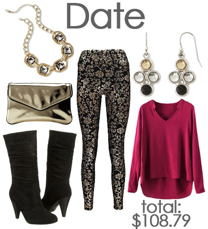 Date night look with leggings.