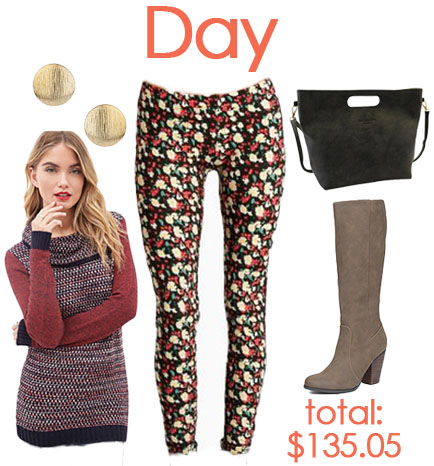 Day look with leggings.