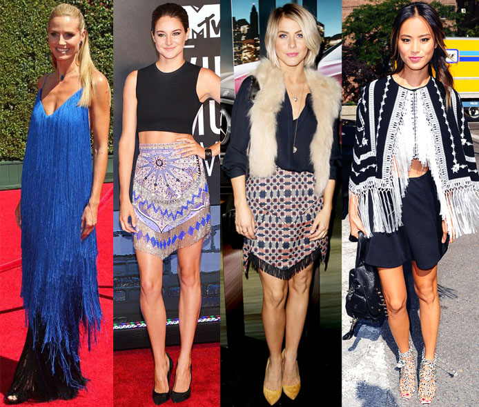 Heidi Klum, Shailene Woodley, Julianne Hough, & Jamie Chung in fringe.