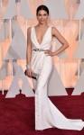 Jenna Dewan-Tatum in a white deep-v belted sparkling Zuhair Murad gown.