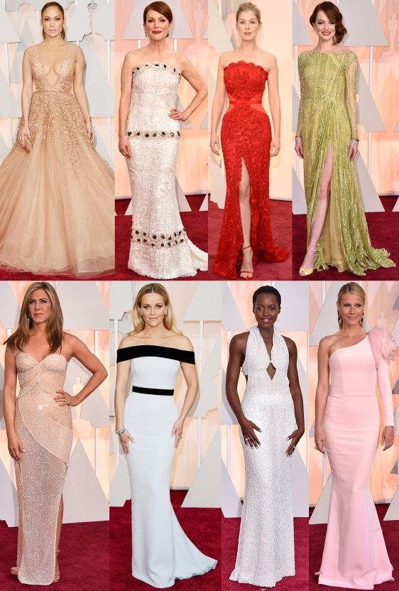 Jennifer Lopez, Julianne Moore, Rosamund Pike, Emma Stone, Jennifer Aniston, Reese Witherspoon, Lupita Nyong'o, & Gwyneth Paltrow.