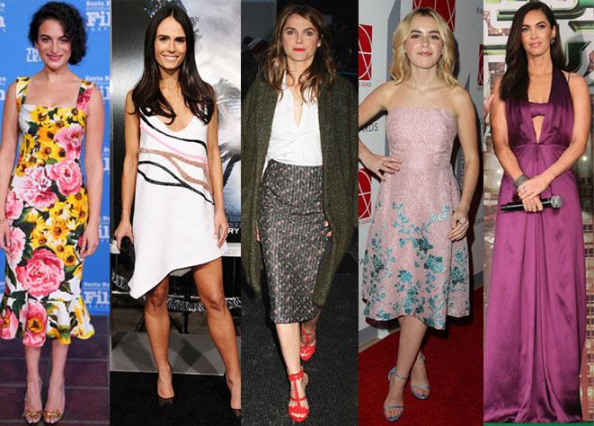 Jenny Slate, Jordana Brewster, Keri Russell, Kiernan Shipka, & Megan Fox.
