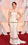 Julianne Moore in a custom sequin beaded strapless Chanel gown with jewelry by Chopard.