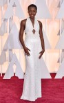 Lupita Nyong'o in a pearl encrusted Calvin Klein Collection halter gown.