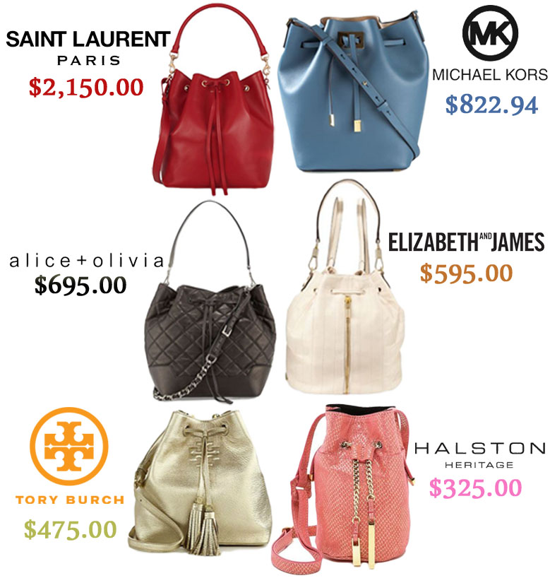 Luxury bucket bags.