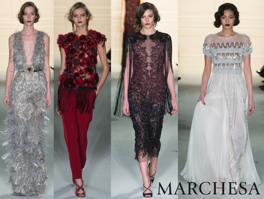 Marchesa Fall 2015 Ready-To-Wear Collection.