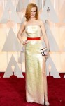 Nicole Kidman in a pearlescent sequin slitted column gown by Louis Vuitton with Harry Winston jewels.