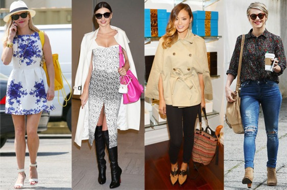 Reese Witherspoon, Miranda Kerr, Jamie Chung, & Julianne Hough with bucket bags.