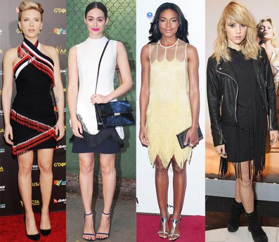 Scarlett Johansson, Emmy Rossum, Naomie Harris, & Suki Waterhouse in fringe.