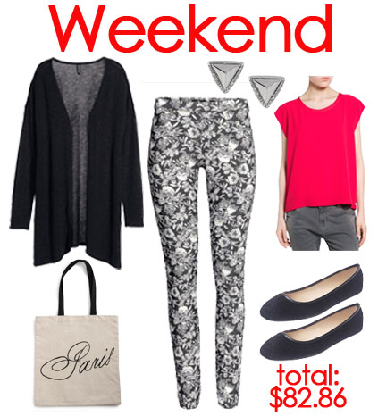 Weekend look with leggings.