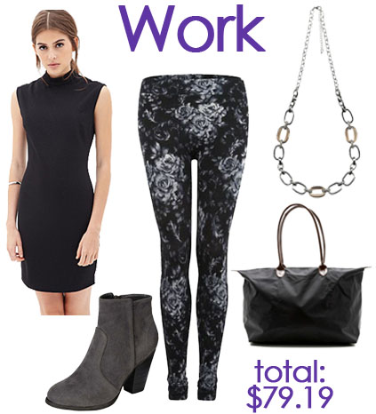 Work look with leggings.