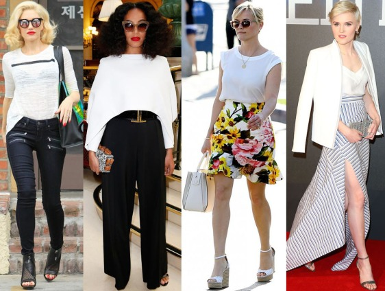 Gwen Stefani, Solange Knowles, Reese Witherspoon, & Veronica Roth.
