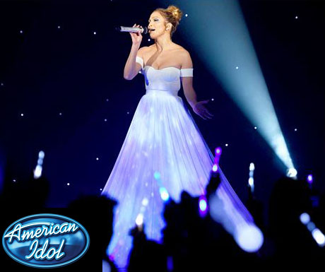 "Jennifer Lopez on American Idol, performing ""Feel the Light."""