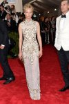 Amber Valetta in a lace white & gold column dress by Alberta Ferretti at the 2015 Met Gala. 01.
