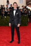 Ansel Elgort in a black tuxedo at the 2015 Met Gala. 01.