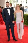 Diane Kruger in a beaded Chanel set with sheer pants & Joshua Jackson at the 2015 Met Gala. 01.