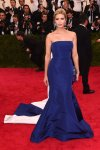 Ivanka Trump in a blue strapless gown at the 2015 Met Gala. 01.
