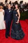 Katie Holmes in a glittering Zac Posen design & Zac Posen at the 2015 Met Gala. 01.