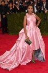 Kerry Washington in a pink high low ball gown at the 2015 Met Gala. 01.