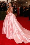 Kerry Washington in a pink high low ball gown at the 2015 Met Gala. 02.