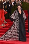 Lady Gaga in an oversized Balenciaga black & white cape & dress at the 2015 Met Gala. 01.