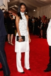 Liya Kebede in a white dress & suit pants by 3.1 Phillip Lim at the 2015 Met Gala. 01.