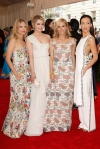 Melanie Laurent, Dianna Agron, Tory Burch, & Maggie Q at the 2015 Met Gala. 01.