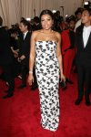 Taraji P. Henson in a black & white strapless column gown by Balenciaga at the 2015 Met Gala. 01.