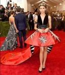 Zendaya Coleman in a deep-v structural mini dress by Fausto Puglisi at the 2015 Met Gala. 02.