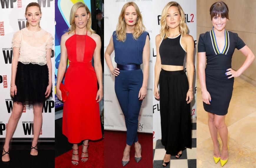 Amanda Seyfried, Elizabeth Banks, Emily Blunt, Kate Hudson, & Lea Michele.