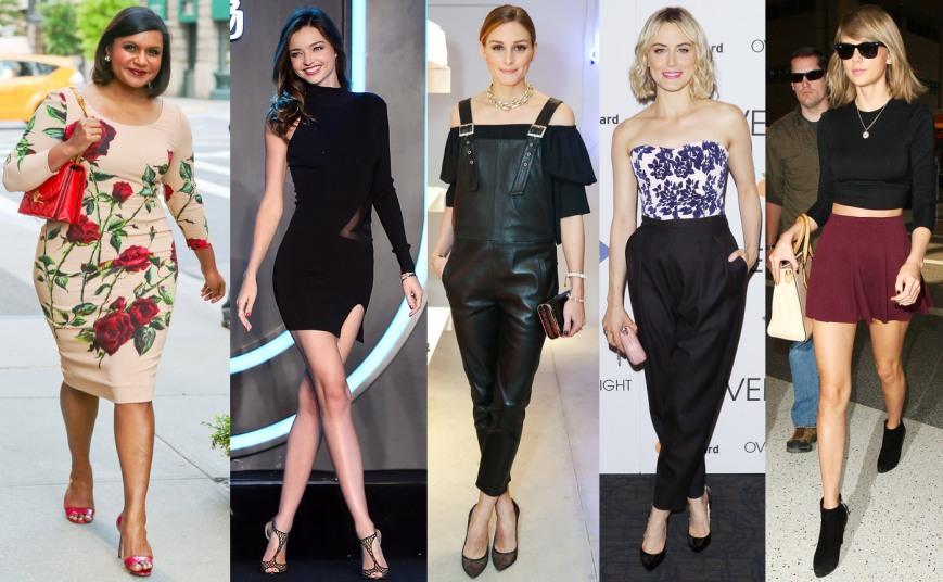Mindy Kaling, Miranda Kerr, Olivia Palermo, Taylor Schilling, & Taylor Swift.