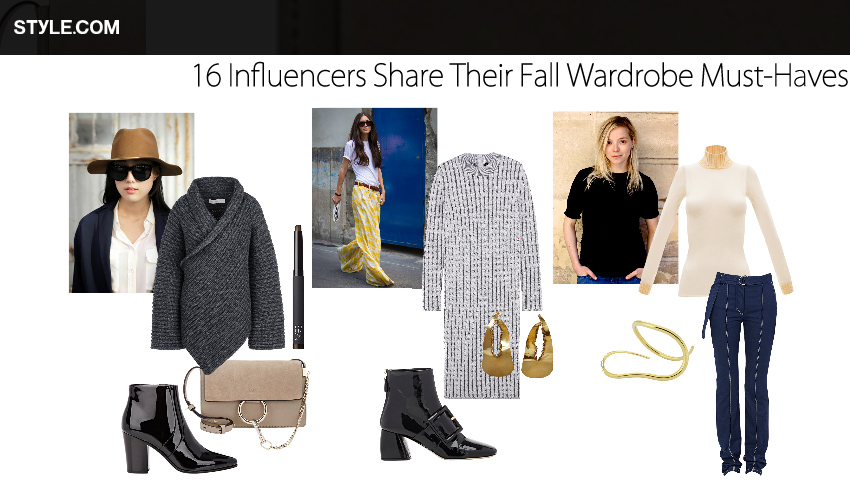 16 Influencers Share Their Fall Wardrobe Must-Haves