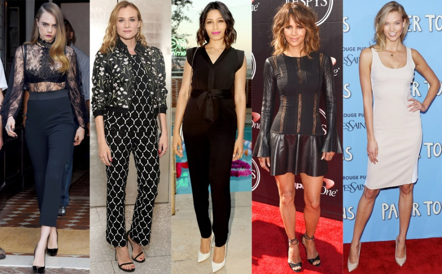 Cara Delevingne, Diane Kruger, Freida Pinto, Halle Berry, & Karlie Kloss.