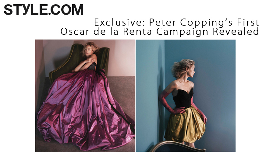 Exclusive- Peter Copping's First Oscar de la Renta Campaign Revealed