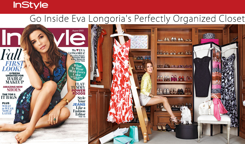Go Inside Eva Longoria's Perfectly Organized Closet