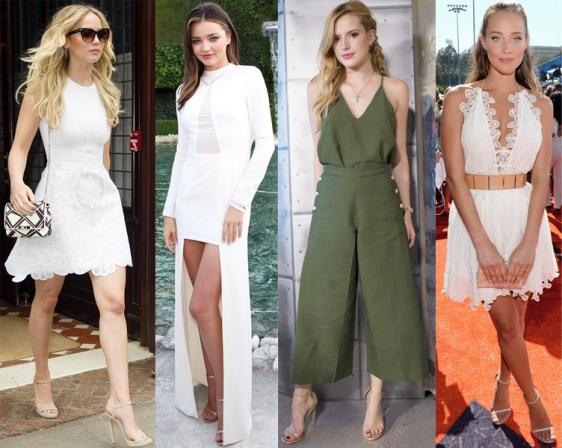 Jennifer Lawrence, Miranda Kerr, Bella Thorne, & Hannah Davis.