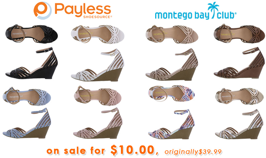 Payless - Montego Bay Prima strappy wedge sandal $10