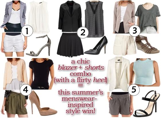 Shorts, blazers, heels, oh my!