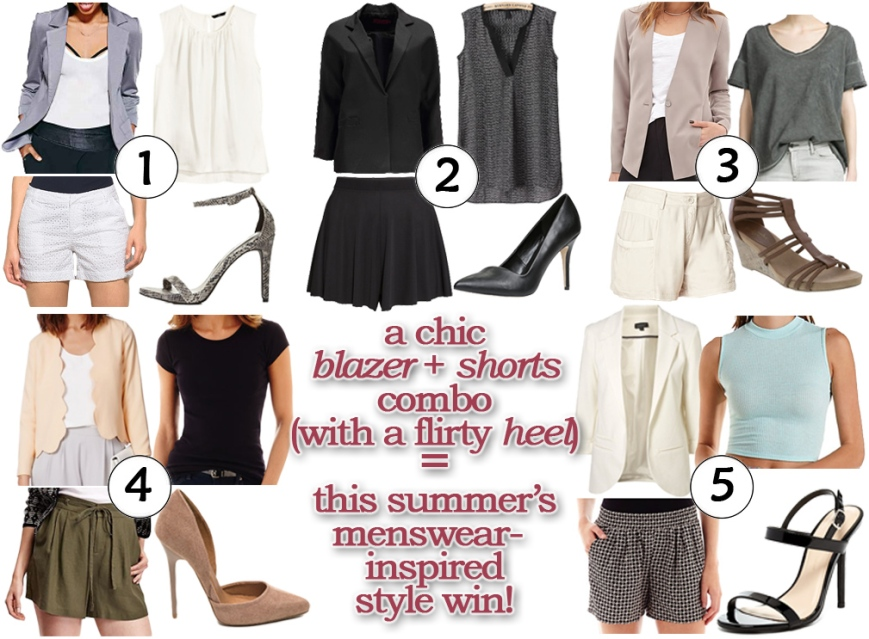 Shorts, blazers, heels, oh my!