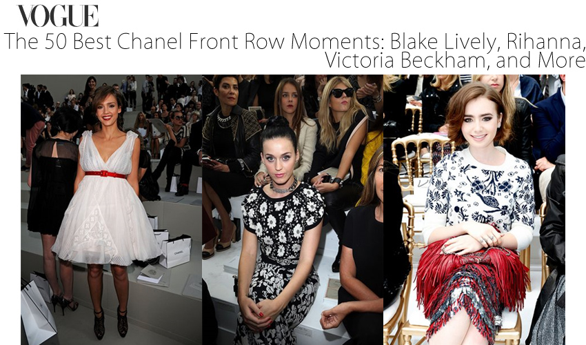 The 50 Best Chanel Front Row Moments - Blake Lively, Rihanna, Victoria Beckham, and More